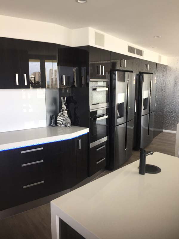 Kitchen double fridge