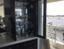 Bar glass doors