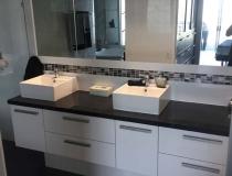 Twin bathroom basins