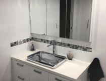 Polished bathroom basin