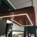 Kitchen renovation in Wynnum solid timber benches with inlayed LED lights