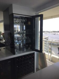New bar cabinets